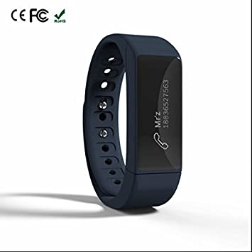 Reloj Inteligente teléfono Celular Reloj Vibra Recordar, Silicona Watchbands, medidor de calorías quemadas, sedentario Alerta, Mensaje notificación Reloj ...