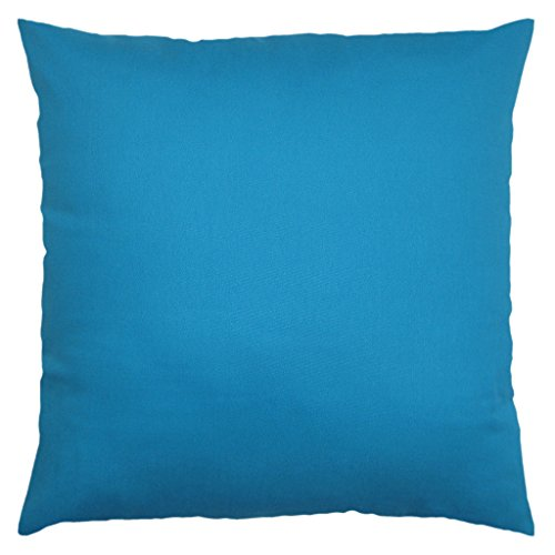 JinStyles Cotton Canvas Accent Decorative Throw Pillow Covers Solid Green, Square, 1 Cushion ...