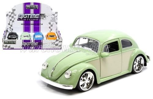 1:24 DISPLAY - METALS - BIGTIME KUSTOMS - 1959 VOLKSWAGEN BEETLE 2-TONE 4 PIECES SET 99049-DP1 BY JADA NO RETAIL BOX
