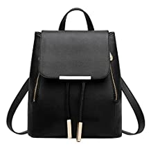 Fashion Story Women Leisure Zipper Travel Satchel Rucksack Backpack Shoulder Bag