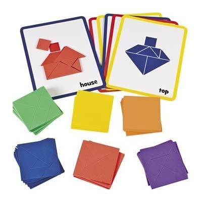 Fun Express Tangram- Foam Shapes - 72 Pieces - Educational and Learning Activities for Kids: Toys & Games