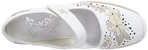 Ballerine Bianco Toe Weiss Bianco Closed Rieker Women 80 53798 Donna wAR0IqB