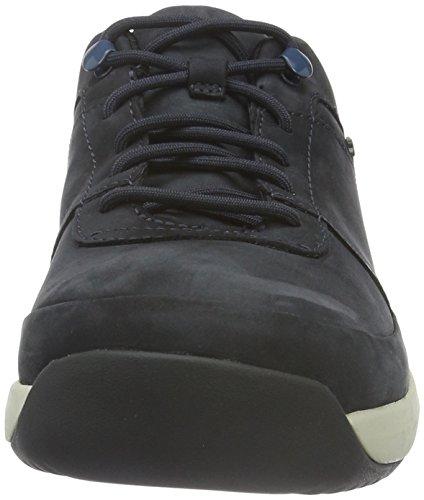 Clarks Herren Johto Lace GTX Derby Blau (Dark Blue Nubuck)
