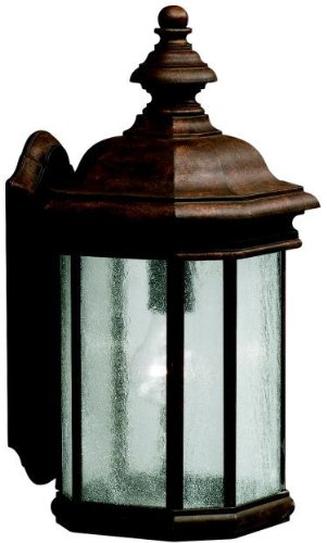 (Kichler 9029TZ, Kirkwood Cast Aluminum Outdoor Wall Sconce Lighting, 150 Total Watts, Tannery)