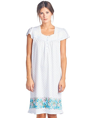 Casual Nights Women's Cap Sleeves Floral Lace Nightgown - Aqua Dots - XX-Large Floral Lace Nightgown