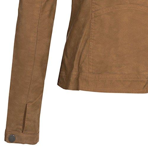 3576011efc5d ... ONLY Damen Jacke Onlsteady Faux Leather Jacket Cc OTW Cognac khwAM8g1Lo