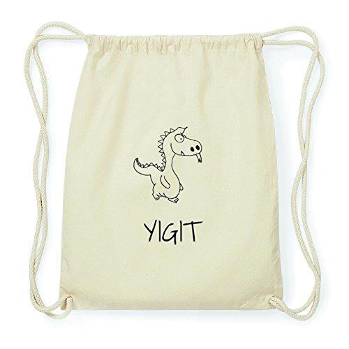 JOllipets YIGIT Hipster Turnbeutel Tasche Rucksack aus Baumwolle Design: Drache