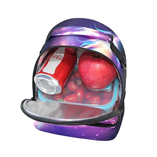 à Tote réglable bandoulière pour Licorne avec à Cooler lunch Sac Nebula Pincnic l'école Boîte isotherme Galaxy Alinlo ZwnzqxCTF7