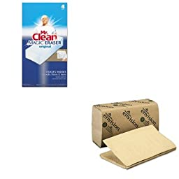 KITGEP23504PAG82027 - Value Kit - Georgia Pacific 1 Fold Paper Towel (GEP23504) and Mr. Clean Magic Eraser Foam Pad (PAG82027)