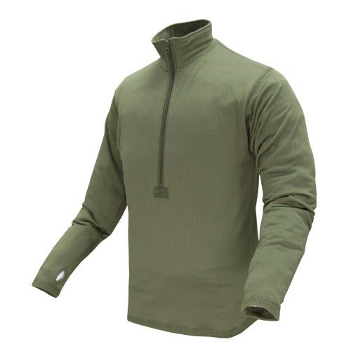 Condor Outdoor BASE II Zip Pullover Long Sleeve Fleece Shirt #603 OD- Small S