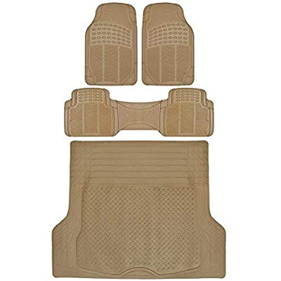 ProLiners Heavy Duty Rubber Mats (Tan Beige w/Trunk): Automotive