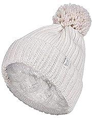 Heat Holders Arden Thermal Textured Twist Thermal Pom Pom Beanie Hat