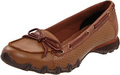 Skechers Women's Bikers-Sailors Slip-On Loafer,Tan,5 M US