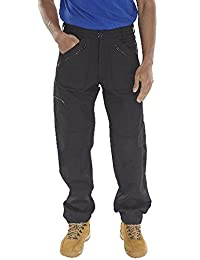 Forever Mens St Action Combat 9 Pocket Zip Plumber Workwear Trouser