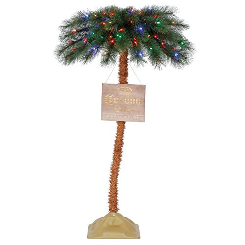 Corona 5' Palm Tree LED Colorful Motion Activated 'O Tannenpalm' Christmas Tree Colorful Christmas Trees