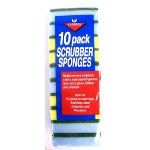 10 pk Scrubber Sponges Case Pack 48 , Automotive, tool & industrial , Office maintenance, janitorial & lunchroom , Cleaning supplies , Scrubbers & sponges