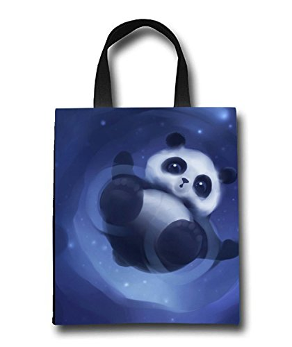 Cute Panda Beach Tote Bag - Toy Tote Bag - Large Lightweight Market, Grocery & Picnic by Linhong
