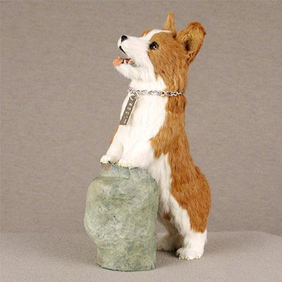 Welsh Corgi Pembroke My Dog Fur Figurine (Welsh Corgi Figurine)