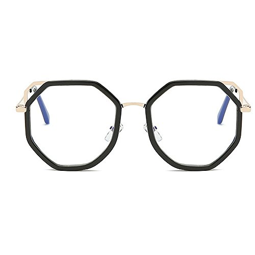 del del de ULTRAVIOLETA las la para de Gafas marco sol polígono conduce mujeres Protección Gafas sol de que gafas Retro de unisex las hombres los metálico de Clear personalidad bordeadas par sol y Gafas sol w7xT1t