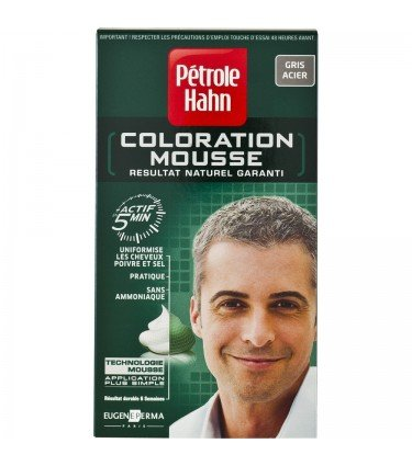 petrole hahn coloration coloration mousse gris acier gris acier amazonfr beaut et parfum - Shampoing Colorant Gris