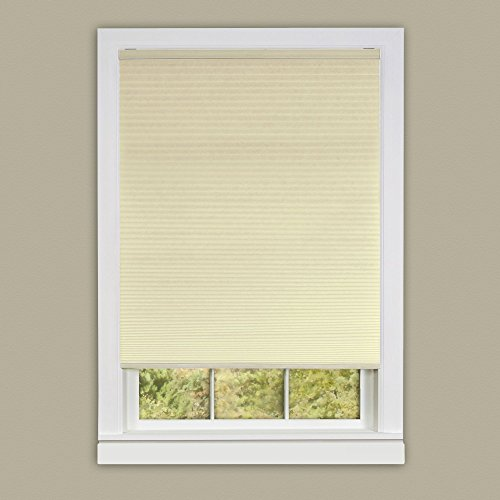 Achim Home Furnishings Honeycomb Pleated Cordless Window Shade, 30 by 64-Inch, Alabaster