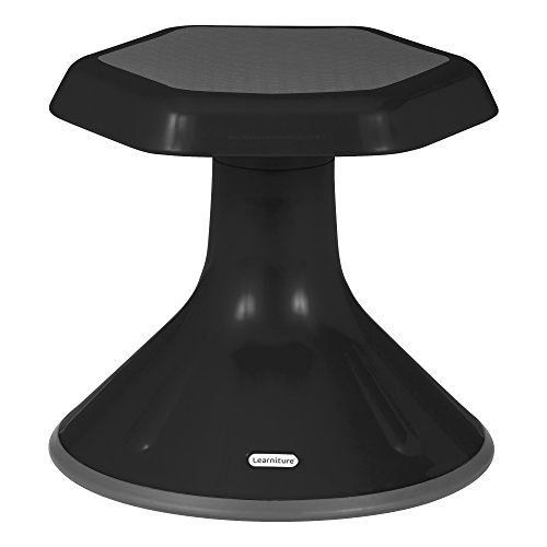 Learniture LNT-3046-12BK Active Learning Stool (12″ Stool Height), 12″ Height, 13″ Width, 13″ Length, Black