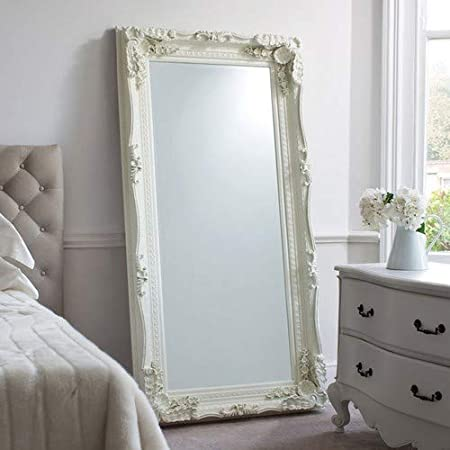 Barcelona Trading Carved Louis Large Cream Ornate French Frame Leaner Wall Mirror 35in X 69in Amazon Co Uk Kitchen Home