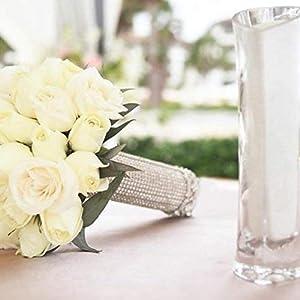 6 PCS Bouquet Holders with Foam DIY Handle Bridal Floral Wedding Flower Holder for Fresh Flowers Silk Flowers 4