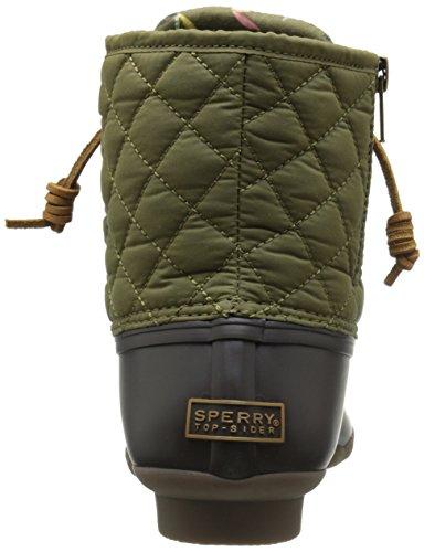 Sperry Top-Sider Damen Salzwasser gesteppter Nylon Regenstiefel Braun / Olive