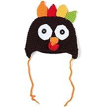 Baby's Thanksgiving Turkey Hat Knitted Crochet, Adorable novelty Beanie Cap by DETALLAN