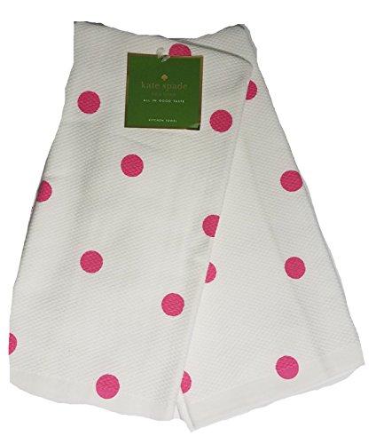 - Kate Spade Polka Dot Dishtowels,Set of 2,Shocking Pink