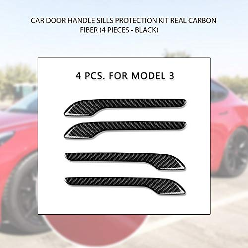 Model 3 Door Handle Cover Wrap Carbon Fiber Protector Stickers Cover KIT Protect Paint Teslamotors Exterior Trims Accessories
