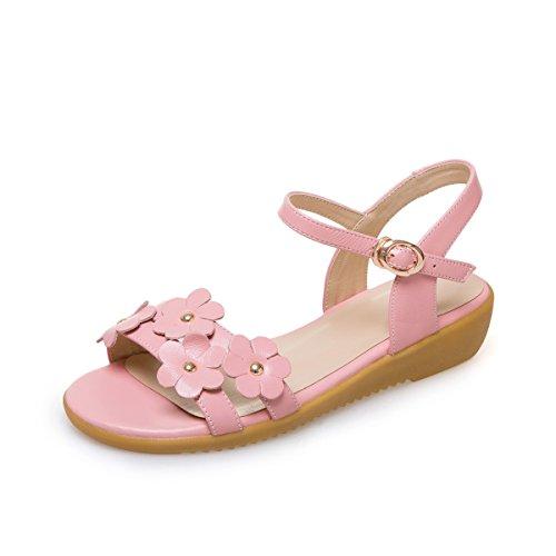 QIN&X La Mujer Sandalias de Tacón Plano Informal Pink