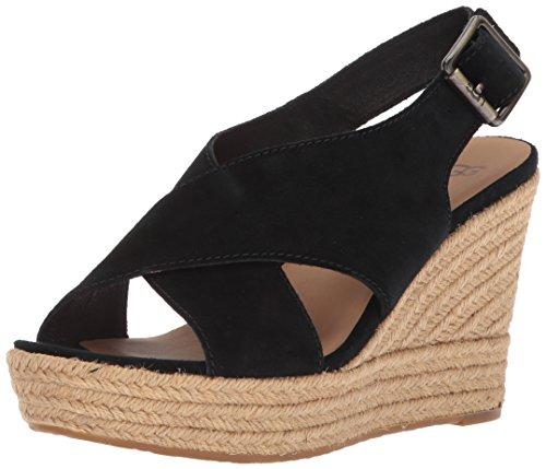 Ugg Australia Ugg Women - Sandalo Con Zeppa Harlow 1019902 - Nero, Misura: 39 Eu