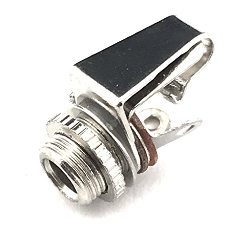 """CESS 1/8"""" 3.5mm Mono TS Female Jack Socket with Switch Panel Mount (4 Pack)"""