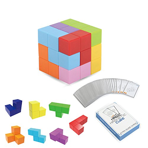 PLRB Magnets Cubes, Magnetic Tiles for Kids Educational Toys Stress Relief Toy Puzzle Cubes Square Magnetic Building Blocks To Develops Intelligence