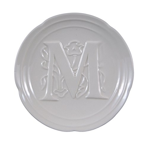 """Mud Pie Boxed Initial Plate - """"M"""""""