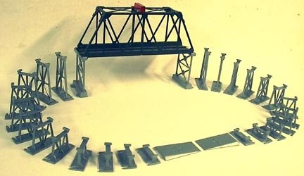 HO Lighted Bridge W/34 Piers for Train Layout New!! by Bachman ()
