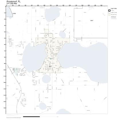Frostproof Florida Map.Amazon Com Zip Code Wall Map Of Frostproof Fl Zip Code Map Not