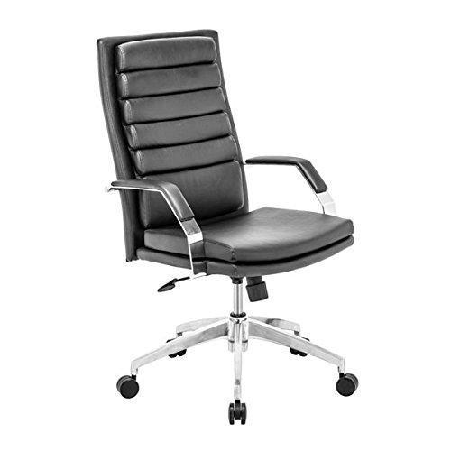 Zuo Director Comfort Office Chair, Black Director Leatherette Office Chair