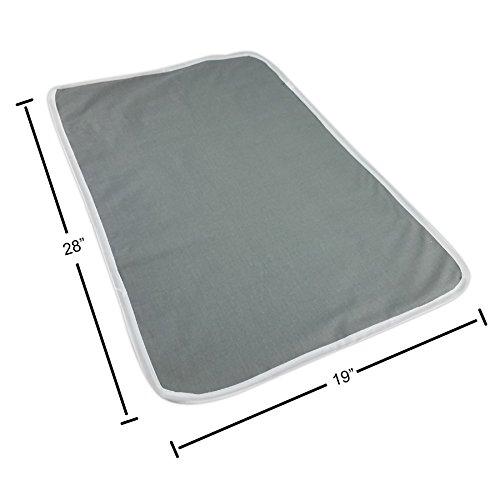 Homz Cotton Ironing Mat, Portable, Gray