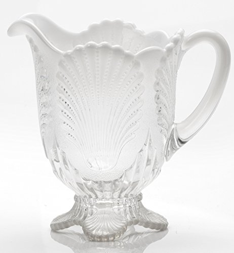 Pitcher - Shell - Crystal French Opalescent Glass - Mosser USA
