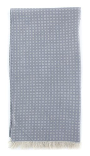 new-cesare-attolini-gray-cotton-blend-scarf