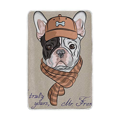 Amazon Com Mapolo Cartoon Hipster Dog French Bulldog Breed Soft