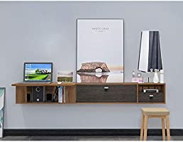 Mueble TV de Pared Escritorio de computadora con Cajon Estante de la Pared Estante Flotante Set Top Box enrutador Estante para Libros CD Foto Juguete Estante Consola de TV Estante de TV: