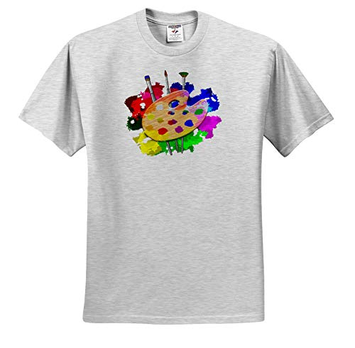 Macdonald Creative Studios - Artist - A Fun and Colorful Art Art Palette and Brushes for Any Artist. - T-Shirts - Toddler Birch-Gray-T-Shirt (4T) (ts_291841_33) ()