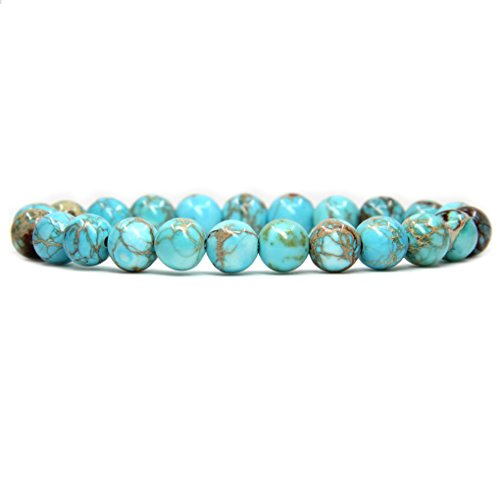 Natural AA Gold Tiger Eye Gemstone 8mm Ball Beads Stretch Bracelet 7