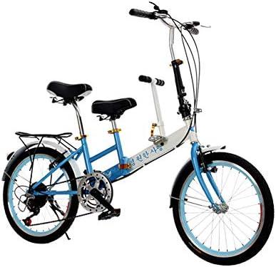 Velocidad De 20 Pulgadas Plegable Bicicleta Doble Asiento Doble ...