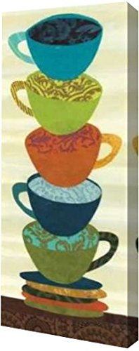"Stacking Cups II by Jeni Lee - 12"" x 30"" Gallery Wrapped Giclee Canvas Art Print - Ready to Hang"