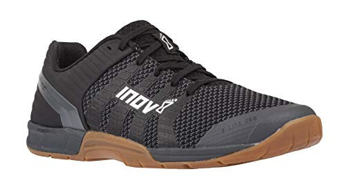 Inov-8 F-Lite 260 Knit - Multipurpose Cross Training Shoes - Athletic Shoe for Gym, Training and Weight Lifting - Wide Toe Box - Black/Gum 9.5 M UK (Best Crossfit Shoes 2019)